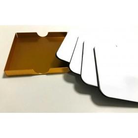 Kişiye Özel Metal Bardak Altlığı Seti