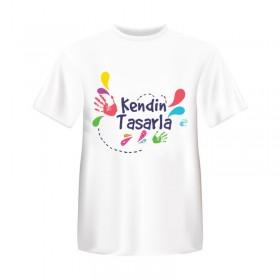 Beyaz T-Shirt Kişiye Özel Kendin Tasarla