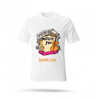 Müzisyen Özel Beyaz T-Shirt
