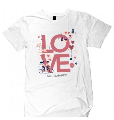 Love Beyaz T-Shirt