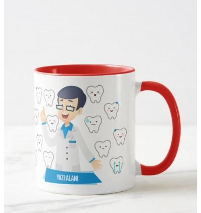 Doktorlara Özel Renkli Kupa (Diş Hekimi)