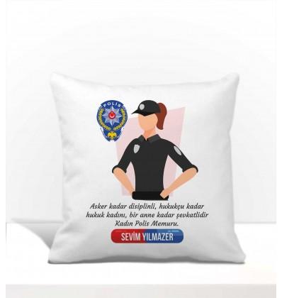 Polislere Özel Kare Yastık