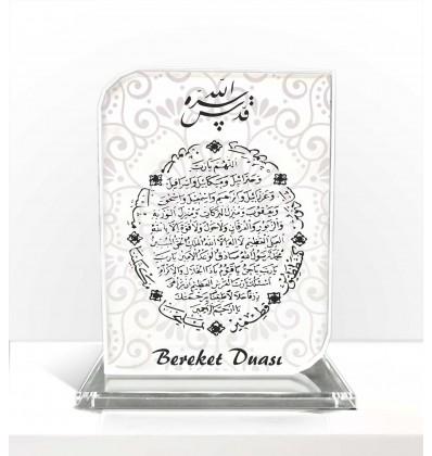 Bereket Duası Arapça Hat Dik Kristal