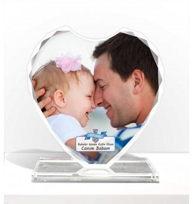 Doğum Günü Hediyesi Özel Tasarım Kalp Kristal